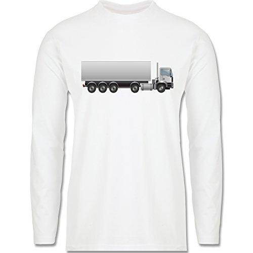 Andere Fahrzeuge - Sattelzug Sattel 40 Tonner - Longsleeve / langärmeliges T-Shirt für Herren Weiß
