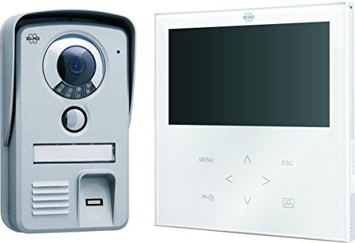 Smartwares Portier Vidéo, Couleur/Visiophone/Interphone Vidéo, Ecran Plat Tactile Blanc