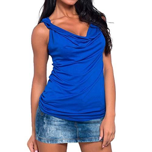 TOPSELD Rmellose Weste Damen, Mode Frauen Festen T-Shirt Mit V-Ausschnitt Sleeveless BehäLter Oben BeiläUfige Oberseiten ()