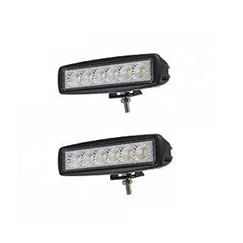 SAILUN 2 x 18W FARO DA LAVORO LUCE DI PROFONDITA' A LED Offroad Proiettore Riflettore Worklight 1600LM Pressofuso in alluminio nero IP67