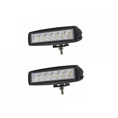 Preisvergleich Produktbild LARS360 18W Offroad Zusatz Scheinwerfer Auto LED Light Bar Geführtes Arbeits-Licht-Bar Nebel Licht Wasserdicht IP67 für SUV UTV ATV (2 Stück)