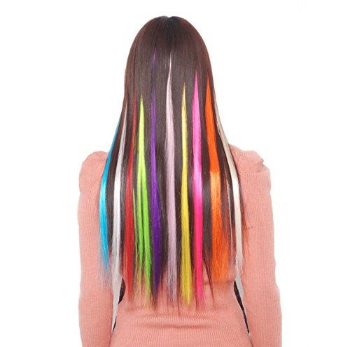 6x straehne straehnchen 1clip in extensions 55cm extension set liscia lunga capelli capelli adattatore, highlights, per l' uso quotidiano e per il tempo libero