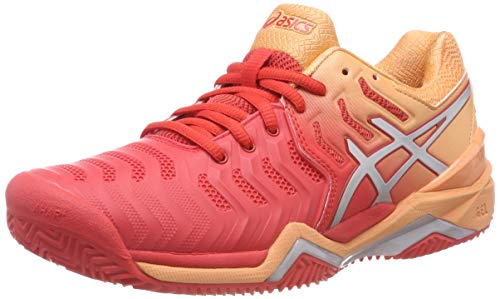 ASICS Gel-Resolution 7 Clay, Scarpe da Tennis Donna, Rosso (Red Alert/Silver 600), 39 EU