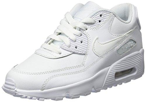 Nike - Air Max 90 Ltr (Gs), Scarpe da corsa Bambino, Bianco, EU 37.5 (US 5Y)