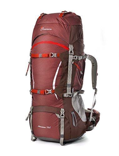 MOUNTAINTOP Mountaintaintop Wanderrucksack, 50L/70L/80L, Maroom -