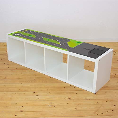 Möbelaufkleber Landebahn - passend für das IKEA KALLAX Regal - Kinderzimmer Spieltisch - Möbel Nicht inklusive