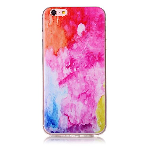 Coque iPhone 7 Rigid,iPhone 7 Housse Etui,Ekakashop Joli Design Ultra Mince Antidérapant Coque de Protection en Soft TPU Silicone avec Motif Doigt Crystal Clair Flexible Souple Case Cover Defender Bum Marbres Colorés
