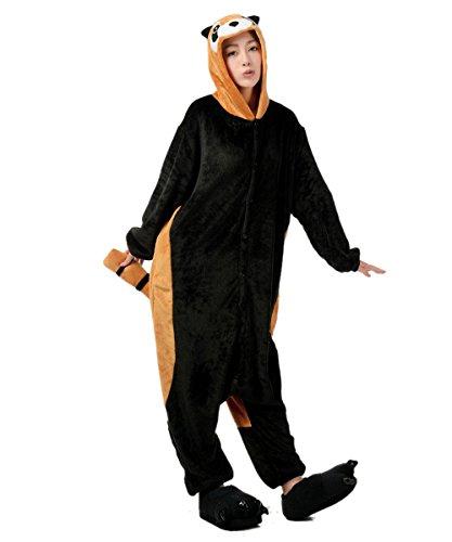 Pyjama Panda Roux Combinaisons Animaux Femme Homme Grenouillère Kigurumi Adulte Pyjamas Costume Onesie L