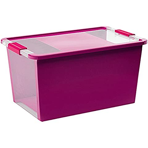 Kis 8454000 0129 01 Bi Box Boîte de Rangement Plastique Violet/Transparent 40 L