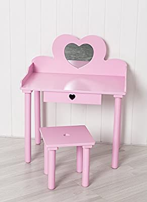 Pink Children's Dressing Table - inexpensive UK dressing table shop.