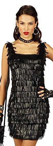 Disco Lederfransen Kleid 36 38