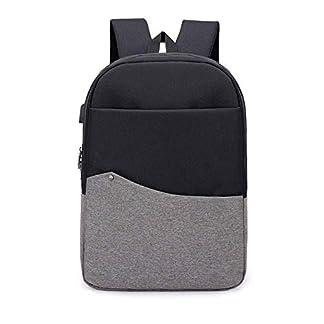 BEIBAO Inteligente Mochila USB Recargable Shoulder Bag para Hombres y Mujeres 16.5 Pulgada Business Computer Bag (Gris Gris Oscuro Color de Rosa Azul)