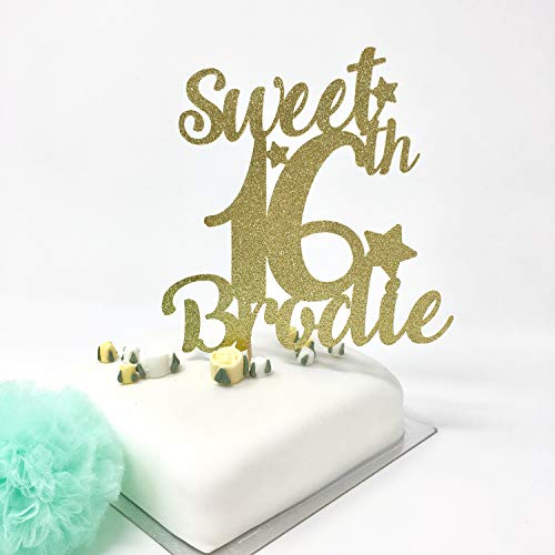 Kuchendekoration zum 16. Geburtstag, personalisierbar, mit Namen, Sweet Sixteenth Party Ideas Sweet Sixteen Cake Topper
