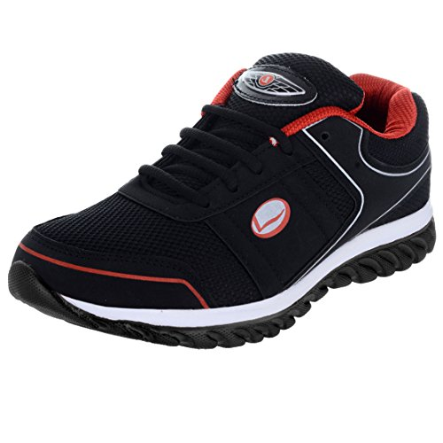 Lancer Men's Black Red Running Shoes-8 (HYDRA-42-BLK-8)