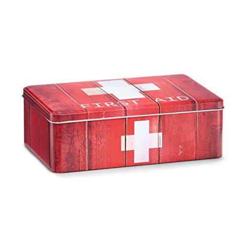 """Medizin-Box \""""First Aid\"""", Metall, rot"""