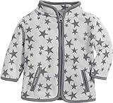 Schnizler Unisex Baby Jacke Fleece Sterne, (Grau 33), (Herstellergröße: 56)