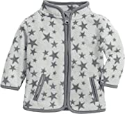 Schnizler Unisex Baby Fleece Sterne Jacke, Grau (Grau 33), (Herstellergröße: 62)