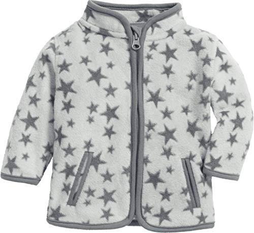 Schnizler Unisex Baby Fleece Sterne Jacke, Grau (Grau 33), (Herstellergröße: 56)