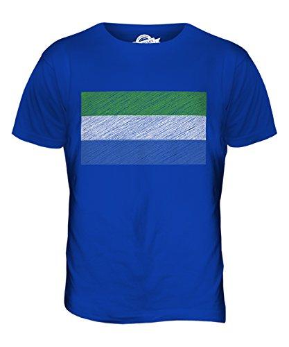 CandyMix Sierra Leone Kritzelte Flagge Herren T Shirt Königsblau