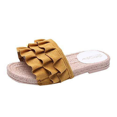 Honestyi pantofola donna pantofole scarpe da spiaggia con tacco a spillo e sandali con tacco basso e fiori di seta tinta unita infradito e ciabatte casual morbide ciabatta