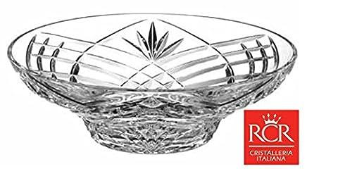 RCR Lead Crystal Orchidea 30cm Bowl Large Crystal Fruit Bowl / salad bowl / centerpiece