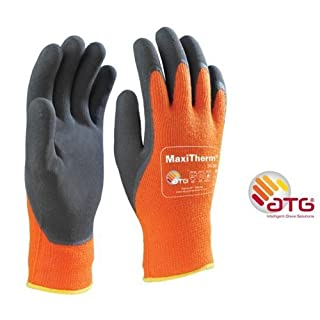 MaxiTherm 30-201 Palm Coated Cold temperature work gloves - Orange - 9/Large by ATG