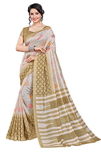 Novus Knitting Multicolor Printed Mysore Jute, Cotton Linen Blend uniform Saree With...