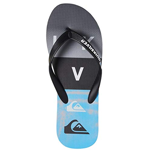 Quiksilver Molokai WORDBLOCK Sandale 2019 Black/Black/Blue, 46