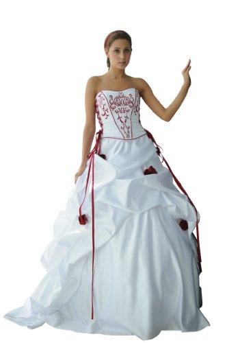 Hochzeits-shop-hamburg WD1019 Romatisches Brautkleid mit Schnürung/Reißverschluss u. Schleppe...