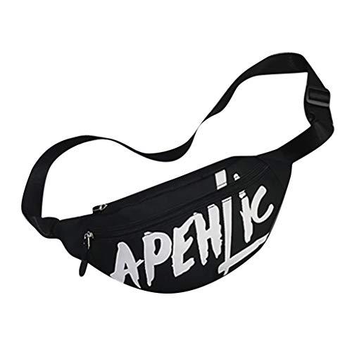 Hüfttasche Hipster Crossbody Tasche für Unisex/Skxinn Sport Laufgürtel Wandertasche Umhängetasche Gürteltasche - geeignet für alle Outdoor-Aktivitäten - für Handy und Wertsachen(Schwarz)