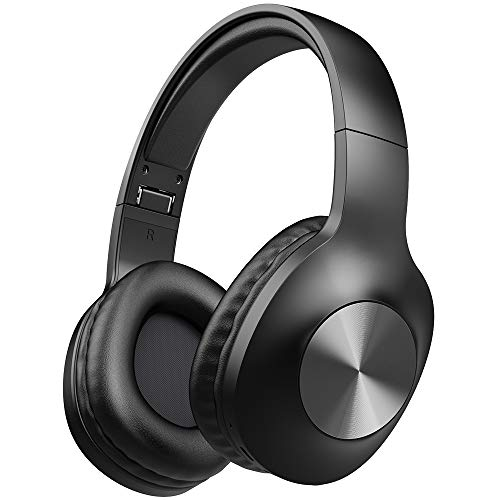 Letscom Bluetooth Kopfhörer Over Ear, 100 Stunden Kopfhörer mit Hi-Fi Stereo, Tiefer Bass, Over Ear Kopfhörer mit Integriertem Mikrofon und Memory Ohrpolster für Handy TV