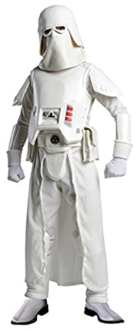 Star Wars Snow Trooper Deluxe Kostüm für Kinder, Größe:L 140-150 (Star Wars Clone Trooper Kostüm Kinder)