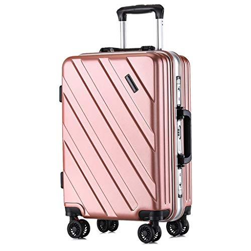 Valigia Custodia for valigia for valigie ultraleggera e resistente for bagagli Mantiene il bagaglio registrato Caster con telaio for bagagli Blocco TSA incorporato a 3 cifre (20 pollici) Oro rosa trol