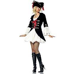 Forever Young–Disfraz Pirata Capitán de mujer con sombrero–Tamaño 34