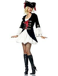 Forever Young Lady Capitán Pirata Disfraz + Sombrero