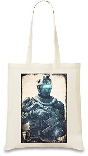 Preisvergleich Produktbild Tom Clancy's Ghost Recon Zukunftssoldat Spec - Tom Clancy's Ghost Recon Future Soldier Spec Custom Printed Tote Bag| 100% Soft Cotton| Natural Color & Eco-Friendly| Unique, Re-Usable & Stylish Handbag