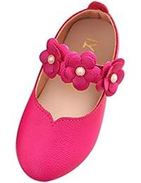 K-youth® Sandalias de Vestir Niña Moda Zapatos Bebe Niña Verano Flores Grandes Zapatos de Princesa Chicas Zapatos de Baile Zapatos Princesa Niña Bautizo Cumpleaños Fiesta