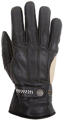 HELSTONS Brod - Guanti invernali da moto, in pelle di vacchetta, colore: nero/beige, T9