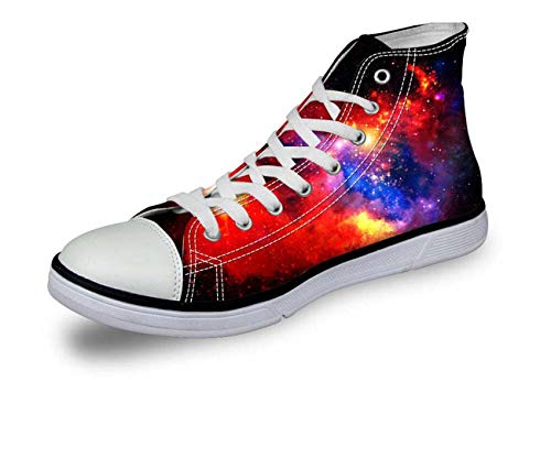 Galaxy High Top Canvas Shoes Women Fashion Flat Shoes Lace-up Sneakers for Girls 3 Galaxy C0165AK 7 (Dillards Schuhe Für Frauen)