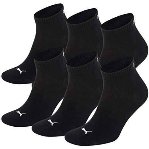 PUMA Unisex Quarters Socken Sportsocken 6er Pack (43-46, schwarz)