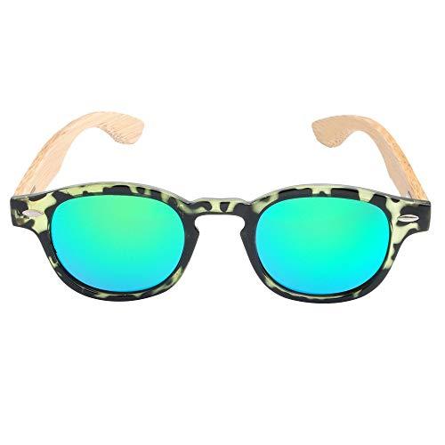 Männliche und weibliche abgehende Bequeme polarisierte Bambus- und Holzsonnenbrille-Gläser-Geschenke für Freunde und Verwandte (Farbe : Green Tortoise+Green Slices)
