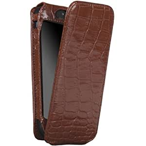 Sena Cases Magnet Flipper for iPhone 5 - Retail Packaging - Croco Tan