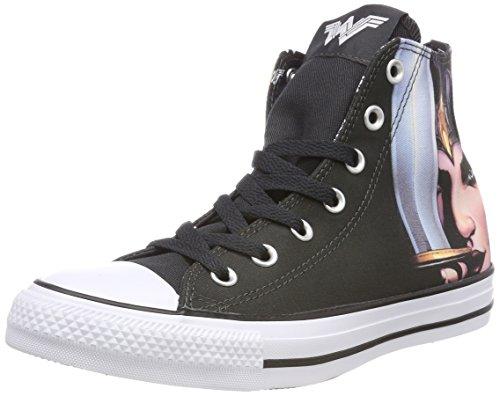 Converse Unisex-Erwachsene CTAS Hi White/Black Hohe Sneaker, Mehrfarbig (Black/White/Black 001), 39 EU
