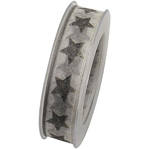 Estrella D. sur Navidad banda plata x48505formstab.Borde Ancho = 40Mm rollo = 20meter
