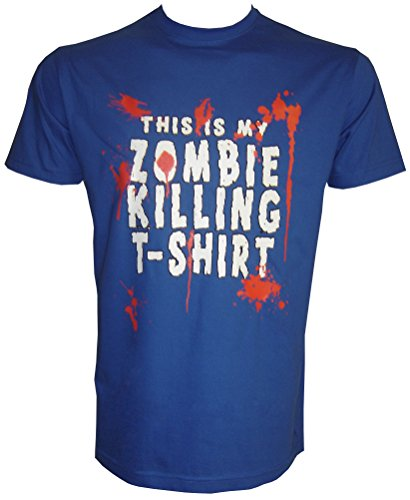 Zombi Killer T-Shirt in Größe S - 5XL Blau
