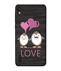 FUSON Designer Back Case Cover for Huawei Ascend P7 (Feeling Loved With Each Other Valentine Day)