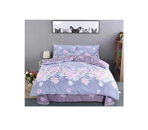 The Unbelievable Dream Bettbezug Bettbezüge doppelseitig Bettwäschesatz Baumwolle waschbar einfache niedliche Kinder Kinder Erwachsene Traum Blume Meer, Bett 1,8 m Bettlaken 2,3 x 2,5 Haube 1,8 x 2,2