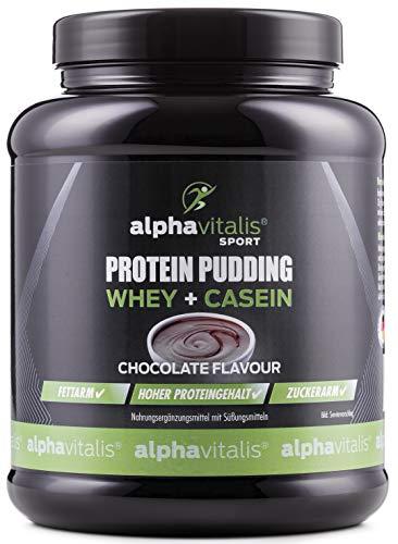 Protein Pudding Creme - Whey + Casein - Hoher Proteingehalt - Zuckerarm + Fettarm - 500g - Geschmack: Schokolade