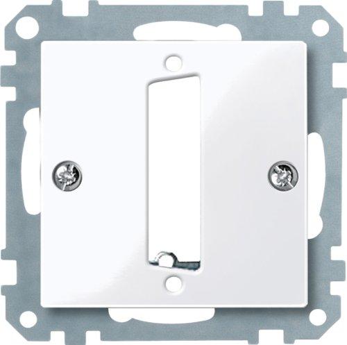 D-subminiatur-stecker (Merten 467825 Zentralplatte für D-Subminiatur-Steckv. 25-polig, aktivweiß glänzend, System M)