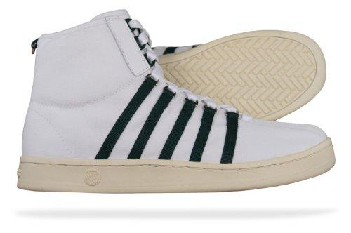 K-Swiss 02503-121-M, Chaussures de Running Entrainement Homme Blanc (white/green)